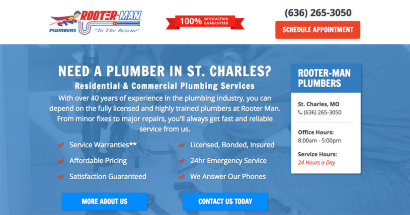 Rooter-Man Plumbers of St. Charles New Website